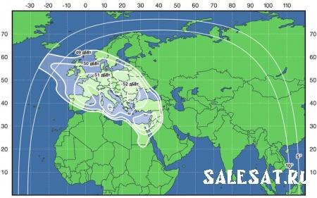 Карты покрытия спутника Express-AM7